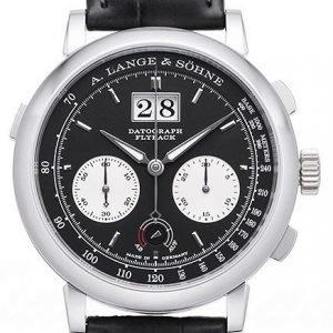 A. Lange & Söhne Saxonia 405.035 Kello Musta / Nahka