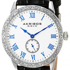 Akribos Xxiv Ak867ss Kello Valkoinen / Nahka