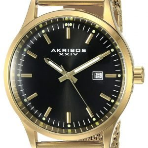 Akribos Xxiv Ak901ygb Kello Musta / Kullansävytetty