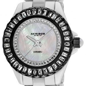 Akribos Xxiv Ceramic Ak518bkw Kello Valkoinen / Keraaminen