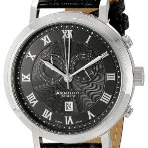 Akribos Xxiv Chronograph Ak591bk Kello Musta / Nahka