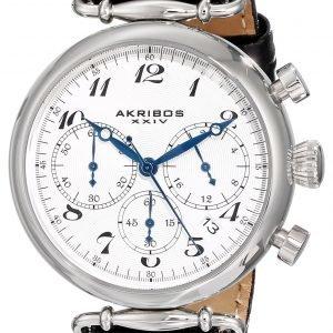 Akribos Xxiv Chronograph Ak630bk Kello Valkoinen / Nahka