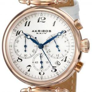 Akribos Xxiv Chronograph Ak630rgw Kello Valkoinen / Nahka