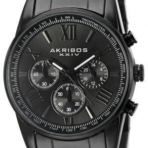 Akribos Xxiv Chronograph Ak865bk Kello Musta / Teräs