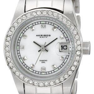 Akribos Xxiv Diamond Ak489ss Kello Valkoinen / Teräs