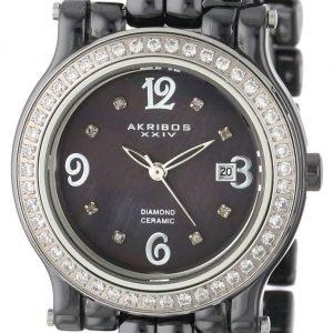 Akribos Xxiv Diamond Ak504bk Kello Musta / Keraaminen