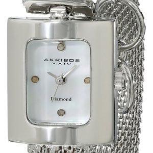Akribos Xxiv Diamond Ak510ss Kello Valkoinen / Teräs