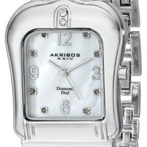 Akribos Xxiv Diamond Ak528ss Kello Valkoinen / Teräs