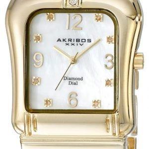Akribos Xxiv Diamond Ak528yg Kello Valkoinen / Kullansävytetty