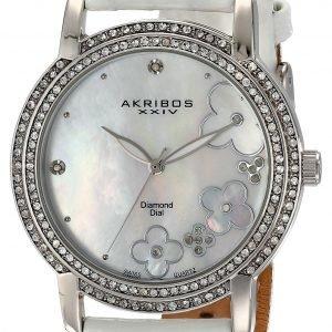 Akribos Xxiv Diamond Ak580ssw Kello Hopea / Nahka
