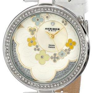 Akribos Xxiv Diamond Ak601wt Kello Valkoinen / Nahka