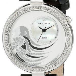Akribos Xxiv Diamond Ak602bk Kello Valkoinen / Nahka