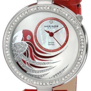 Akribos Xxiv Diamond Ak602rd Kello Valkoinen / Nahka