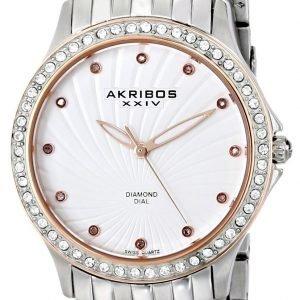 Akribos Xxiv Diamond Ak620ss Kello Valkoinen / Teräs