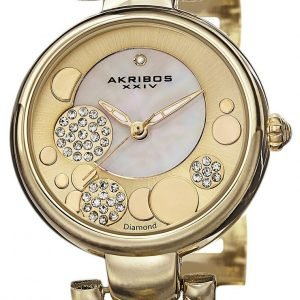 Akribos Xxiv Diamond Ak678yg Kello Kullattu / Kullansävytetty