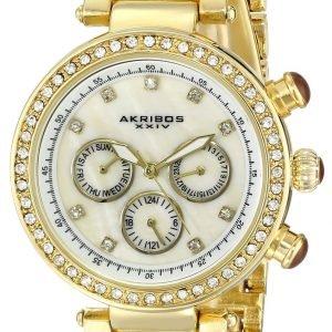 Akribos Xxiv Diamond Ak681yg Kello Valkoinen / Kullansävytetty