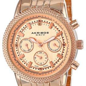 Akribos Xxiv Diamond Ak722rg Kello