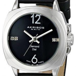 Akribos Xxiv Diamond Ak742ssb Kello Musta / Satiini