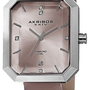 Akribos Xxiv Diamond Ak749pk Kello Pinkki / Nahka