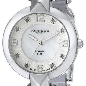 Akribos Xxiv Diamond Ak755ss Kello Valkoinen / Teräs