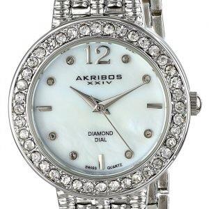 Akribos Xxiv Diamond Ak757ss Kello Valkoinen / Teräs