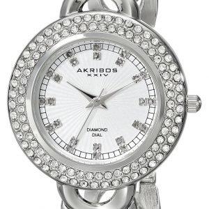 Akribos Xxiv Diamond Ak804ss Kello Valkoinen / Teräs