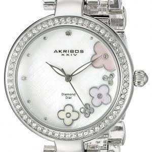 Akribos Xxiv Diamond Ak874ss Kello Valkoinen / Teräs