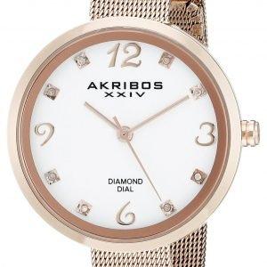 Akribos Xxiv Diamond Ak875rg Kello