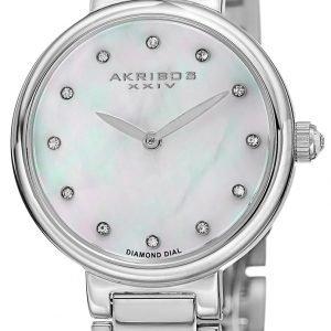 Akribos Xxiv Diamond Ak877ss Kello Valkoinen / Teräs