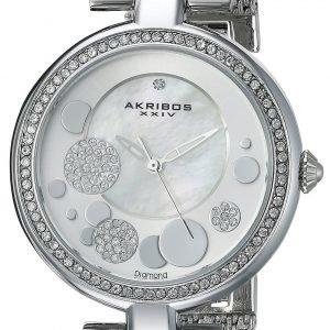 Akribos Xxiv Diamond Ak881ss Kello Valkoinen / Teräs