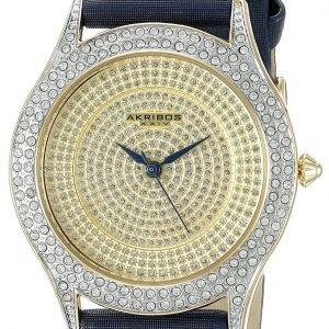 Akribos Xxiv Diamond Ak896bu Kello Samppanja / Satiini