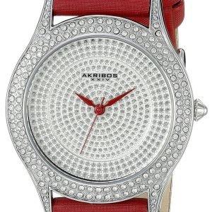 Akribos Xxiv Diamond Ak896rd Kello Hopea / Satiini