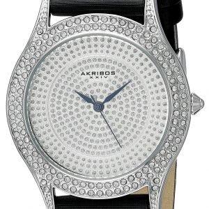 Akribos Xxiv Diamond Ak896ss Kello Hopea / Satiini
