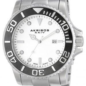 Akribos Xxiv Essential Ak674ss Kello Valkoinen / Teräs
