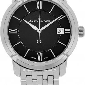 Alexander Heroic A111b-03 Kello Musta / Teräs