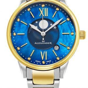 Alexander Monarch A204b-03 Kello Sininen / Kullansävytetty