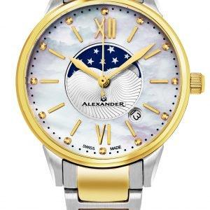 Alexander Monarch A204b-04 Kello Valkoinen / Kullansävytetty