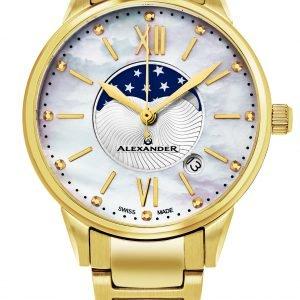 Alexander Monarch A204b-05 Kello Valkoinen / Kullansävytetty