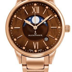 Alexander Monarch A204b-06 Kello Ruskea / Punakultasävyinen