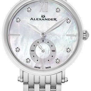 Alexander Monarch Ad201b-01 Kello Hopea / Teräs