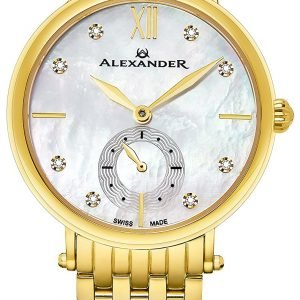Alexander Monarch Ad201b-02 Kello Hopea / Kullansävytetty