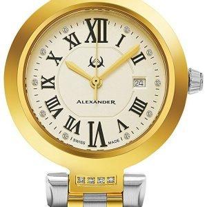 Alexander Monarch Ad203b-02 Kello Samppanja / Kullansävytetty