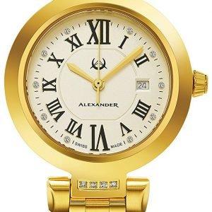 Alexander Monarch Ad203b-03 Kello Samppanja / Kullansävytetty