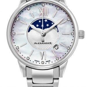 Alexander Monarch Ad204b-01 Kello Valkoinen / Teräs