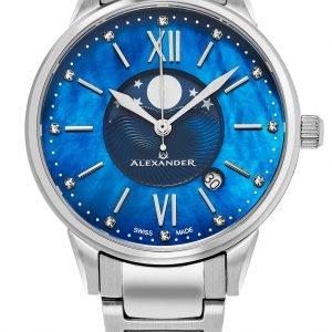 Alexander Monarch Ad204b-02 Kello Sininen / Teräs
