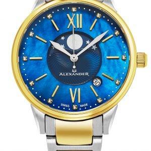 Alexander Monarch Ad204b-03 Kello Sininen / Kullansävytetty