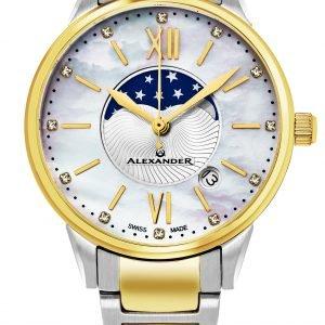 Alexander Monarch Ad204b-04 Kello Valkoinen / Kullansävytetty