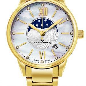 Alexander Monarch Ad204b-05 Kello Valkoinen / Kullansävytetty
