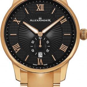 Alexander Statesman A102b-05 Kello Musta / Punakultasävyinen