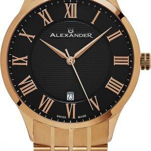 Alexander Statesman A103b-04 Kello Musta / Punakultasävyinen